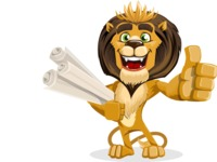 Lion Cartoon Vector Character - Plans