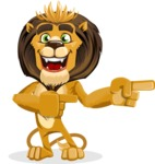 Lion Cartoon Vector Character - Point 2