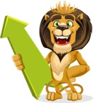 Lion Cartoon Vector Character - Pointer 1