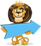 animal lion vector cartoon character pack of poses - Pointer 2