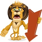 animal lion vector cartoon character pack of poses - Pointer 3