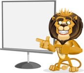 Lion Cartoon Vector Character - Presentation 2