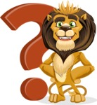 Lion Cartoon Vector Character - Question