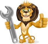 Lion Cartoon Vector Character - Repair