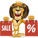 Lion Cartoon Vector Character - Sale 2