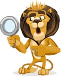 animal lion vector cartoon character pack of poses - Search