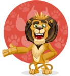 Lion Cartoon Vector Character - Shape 11