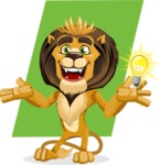 Lion Cartoon Vector Character - Shape 12