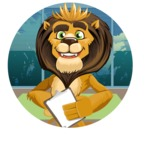 Lion Cartoon Vector Character - Shape 2