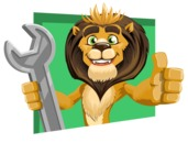 animal lion vector cartoon character pack of poses - Shape 3
