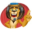 Lion Cartoon Vector Character - Shape 4