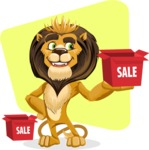animal lion vector cartoon character pack of poses - Shape 6