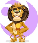 animal lion vector cartoon character pack of poses - Shape 7