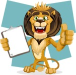 animal lion vector cartoon character pack of poses - Shape 8