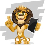 Lion Cartoon Vector Character - Shape 9