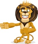 animal lion vector cartoon character pack of poses - Show 2