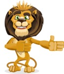 Lion Cartoon Vector Character - Show