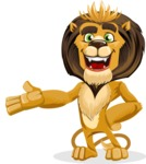animal lion vector cartoon character pack of poses - Showcase 2