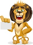 Lion Cartoon Vector Character - Sign 1