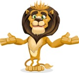 animal lion vector cartoon character pack of poses - Sorry