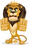 Lion Cartoon Vector Character - Stop 2