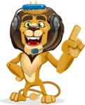 Lion Cartoon Vector Character - Support 2