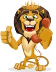 Lion Cartoon Vector Character - Support