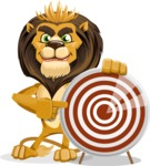 Lion Cartoon Vector Character - Target