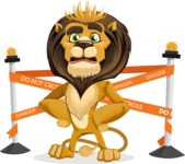 Lion Cartoon Vector Character - Under Construction 2