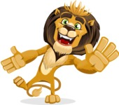 animal lion vector cartoon character pack of poses - Wave