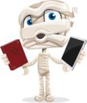 Little Mummy Kid Cartoon Vector Character AKA Fiddo the Mummy Kiddo - Choosing Between Modern and Oldschool