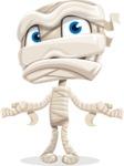 Little Mummy Kid Cartoon Vector Character AKA Fiddo the Mummy Kiddo - Feeling Confused