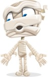 Little Mummy Kid Cartoon Vector Character AKA Fiddo the Mummy Kiddo - Feeling Lost