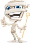 Little Mummy Kid Cartoon Vector Character AKA Fiddo the Mummy Kiddo - Making Thumbs Up