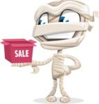 Little Mummy Kid Cartoon Vector Character AKA Fiddo the Mummy Kiddo - On a Sale