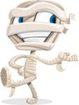 Little Mummy Kid Cartoon Vector Character AKA Fiddo the Mummy Kiddo - Presenting