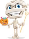 Little Mummy Kid Cartoon Vector Character AKA Fiddo the Mummy Kiddo - Trick Or Treating