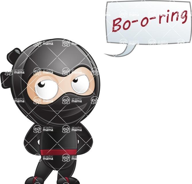 Ami the Small Ninja - Bored