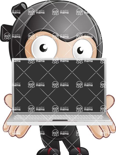 Ami the Small Ninja - Laptop 2