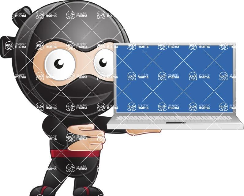 Ami the Small Ninja - Laptop 3