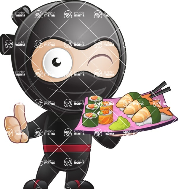 Ami the Small Ninja - Sushi