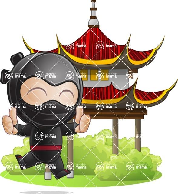 Ami the Small Ninja - Temple