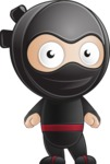 Cute Simple Style Ninja Cartoon Vector Character AKA Ami - Normal