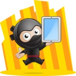 Cute Simple Style Ninja Cartoon Vector Character AKA Ami - Shape 10