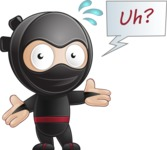 Cute Simple Style Ninja Cartoon Vector Character AKA Ami - Lost 1