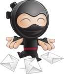 Cute Simple Style Ninja Cartoon Vector Character AKA Ami - Mail 1