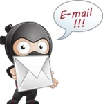 Cute Simple Style Ninja Cartoon Vector Character AKA Ami - Mail 2