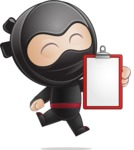 Cute Simple Style Ninja Cartoon Vector Character AKA Ami - Note 1