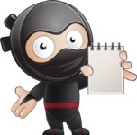 Cute Simple Style Ninja Cartoon Vector Character AKA Ami - Note 2