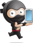 Cute Simple Style Ninja Cartoon Vector Character AKA Ami - Smartphone 1
